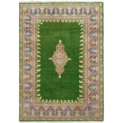 One-of-a-Kind Wisner Persian Hand Woven Wool Green Oriental Area Rug