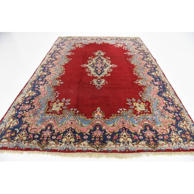 One-Of-A-Kind Bellflower Hand Woven Wool Red Area Rug
