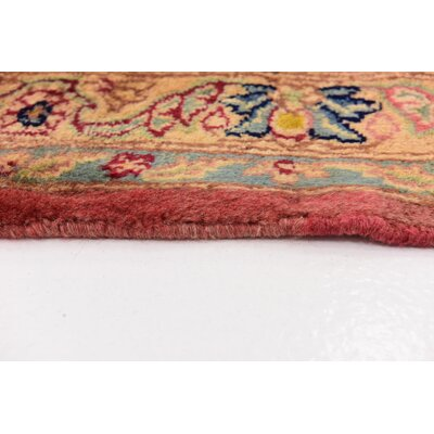 One-of-a-Kind Wisner Persian Hand Woven Wool Pink Area Rug