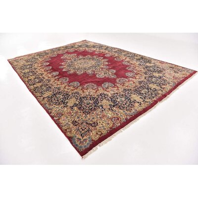 One-of-a-Kind Bellflower Persian Hand Woven 100% Wool Red Area Rug