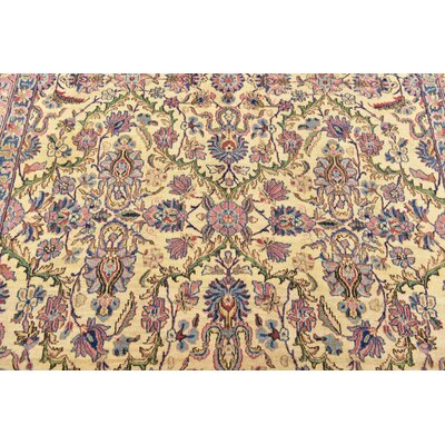 One-of-a-Kind Wisner Persian Hand Woven Wool Cream Oriental Area Rug
