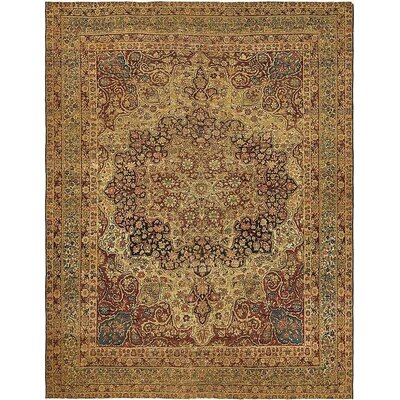 One-of-a-Kind Wisner Persian Hand Woven Wool Beige Oriental Area Rug