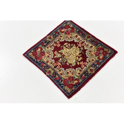 One-of-a-Kind Wisner Traditional Persian Hand Woven Wool Red Area Rug