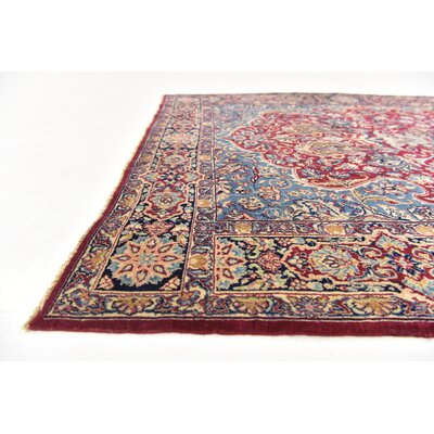 One-of-a-Kind Wisner Traditional Persian Hand Woven Wool Red Oriental Area Rug