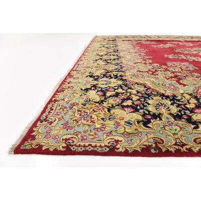 One-of-a-Kind Bellflower Persian Hand Woven Wool Rectangle Red Area Rug