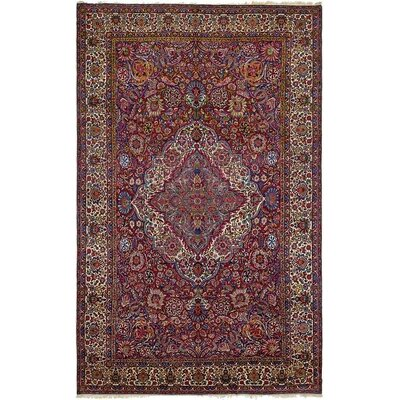 One-of-a-Kind Wisner Traditional Persian Hand Knotted Wool Red Area Rug