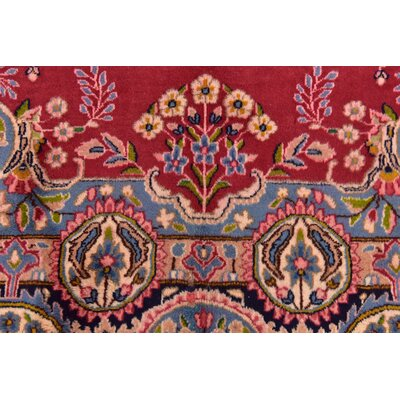 One-of-a-Kind Bellflower Traditional Persian Hand Woven Wool Red Area Rug