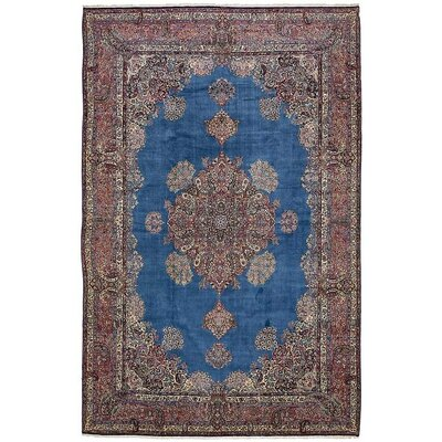 One-of-a-Kind Wisner Persian Hand Woven Wool Blue Oriental Area Rug