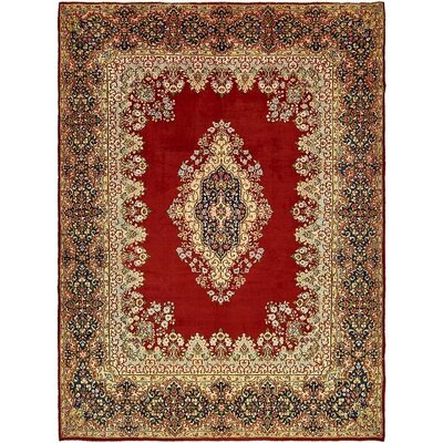One-of-a-Kind Bellflower Persian Hand Woven Wool Red Area Rug with Fringe