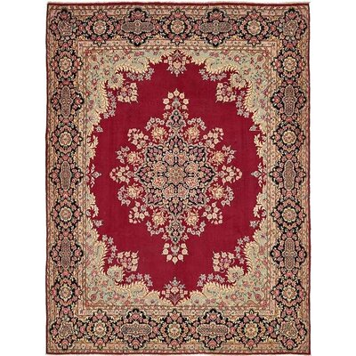 One-of-a-Kind Bellflower Traditional Persian Hand Woven Wool Rectangle Red Area Rug