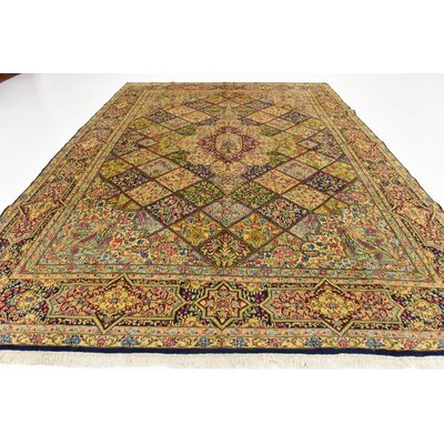 One-of-a-Kind Bellflower Persian Hand Woven Wool Yellow/Brown Area Rug