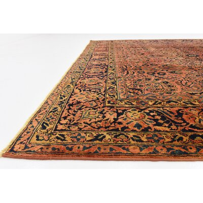 One-of-a-Kind Wisner Persian Hand Woven Wool Rust Red Area Rug