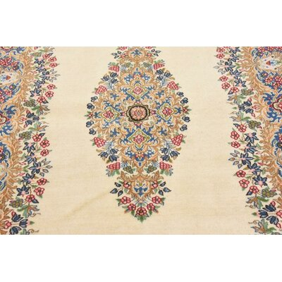 One-of-a-Kind Branca Persian Hand Woven Wool Ivory Area Rug