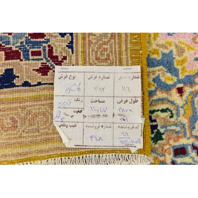 One-of-a-Kind Wisner Persian Hand Woven Wool Gold Area Rug