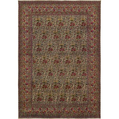 One-of-a-Kind Wisner Persian Hand Woven Wool Ivory Area Rug