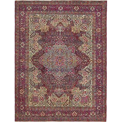 One-of-a-Kind Wisner Traditional Persian Hand Woven 100% Wool Red Area Rug