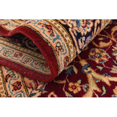 One-of-a-Kind Bellflower Traditional Persian Hand Woven 100% Wool Red Area Rug with Fringe