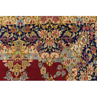 One-of-a-Kind Bellflower Traditional Persian Hand Woven Wool Rectangle Red Floral Area Rug