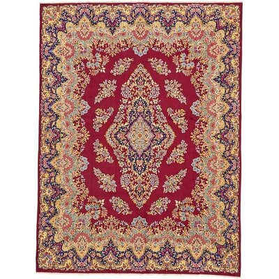 One-of-a-Kind Bellflower Persian Hand Woven Wool Red Area Rug