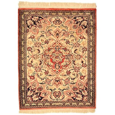 One-of-a-Kind Breno Persian Hand Woven Silk Cream Area Rug