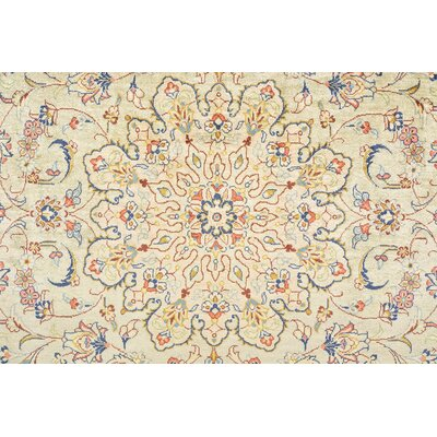 One-of-a-Kind Breno Persian Hand Woven Silk Cream Oriental Area Rug
