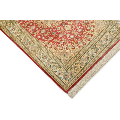 One-of-a-Kind Breno Traditional Persian Hand Woven Wool Cream Area Rug