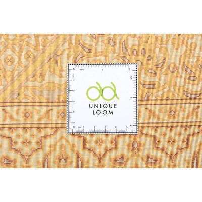 One-of-a-Kind Wollano Stain-resistant Persian Hand Woven Wool Cream Area Rug