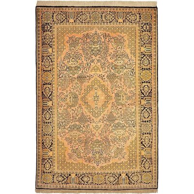 One-of-a-Kind Wollano Fade Resistant Persian Hand Woven Wool Cream Area Rug