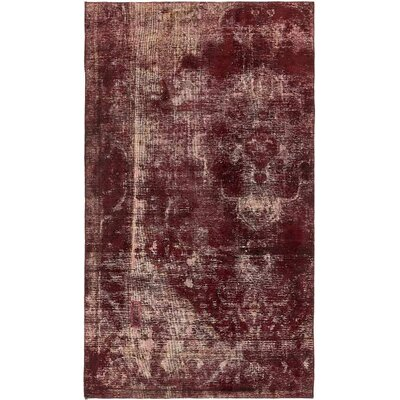 One-of-a-Kind Sela Vintage Persian Hand Woven Dyed Wool Brown Area Rug