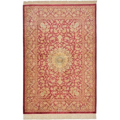 One-of-a-Kind Bellingdon Persian Hand Woven Silk Red Area Rug