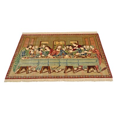 One-of-a-Kind Bellingdon Persian Hand Woven Silk Rectangle Beige Area Rug