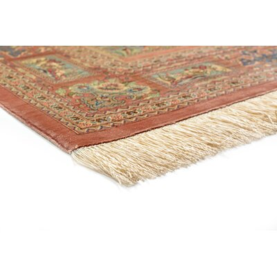 One-of-a-Kind Wollano Stain-resistant Persian Hand Woven Silk Cream Oriental Area Rug