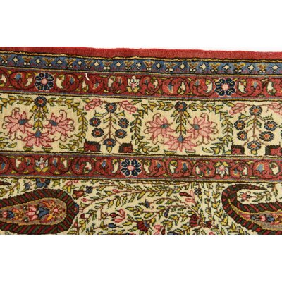 One-of-a-Kind Bellingdon Persian Hand Woven Silk Cream Oriental Area Rug
