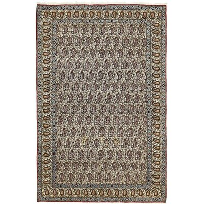 One-of-a-Kind Bellingdon Persian Hand Woven Wool Rectangle Cream Area Rug
