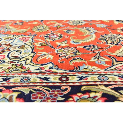 One-of-a-Kind Wollano Persian Hand Woven Wool Rectangle Red Area Rug