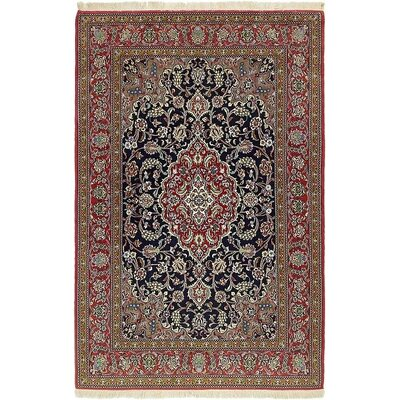 One-of-a-Kind Bellingdon Persian Hand Woven Wool Navy Blue Area Rug