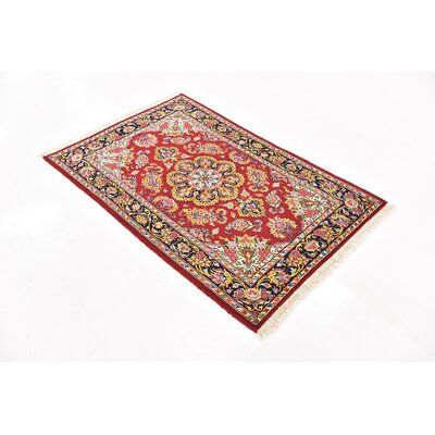 One-of-a-Kind Breno Persian Hand Woven 100% Wool Red Area Rug