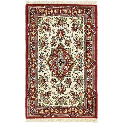 One-of-a-Kind Breno Persian Hand Woven Wool Red Oriental Border Area Rug