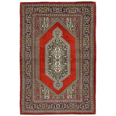 One-of-a-Kind Wollano Persian Hand Woven Wool Red Area Rug