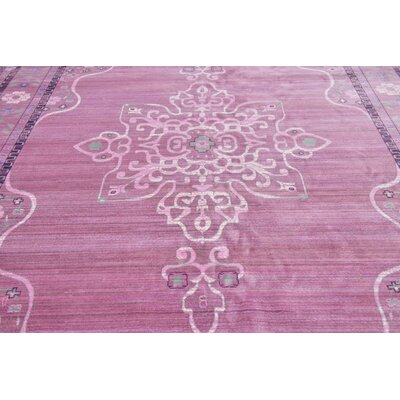 Rune Pink Area Rug Rug Size: Rectangle 7 x 10