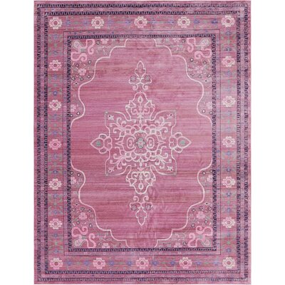 Rune Pink Area Rug Rug Size: Rectangle 9 x 12