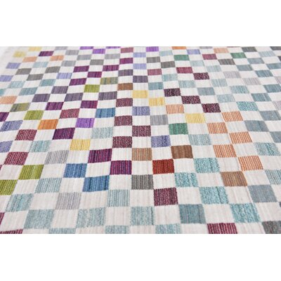 Antiope Gray/Blue Area Rug Rug Size: Rectangle 68 x 93