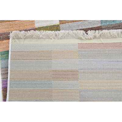 Antiope Brown/Blue Area Rug Rug Size: Runner 28 x 96