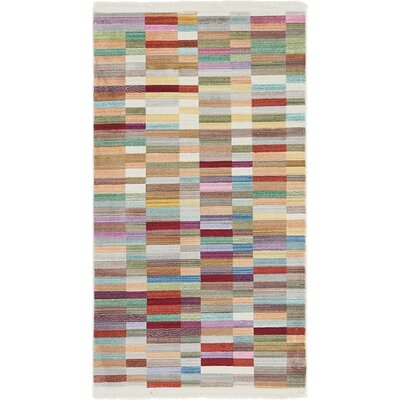 Antiope Brown/Blue Area Rug Rug Size: Rectangle 53 x 77