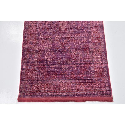 Rune Burgundy Area Rug Rug Size: Rectangle 27 x 5