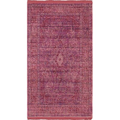 Rune Burgundy Area Rug Rug Size: Rectangle 4 x 6