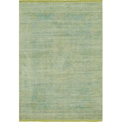 Rune Light Green Area Rug Rug Size: Rectangle 53 x 77