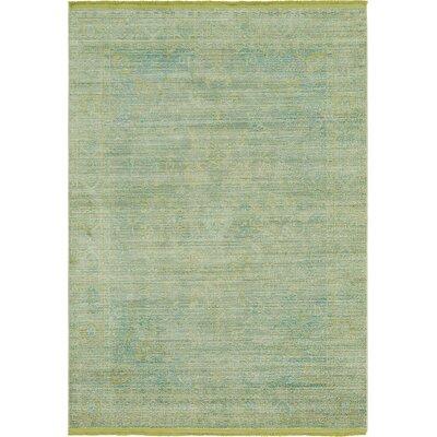 Rune Light Green Area Rug Rug Size: Rectangle 53 x 77