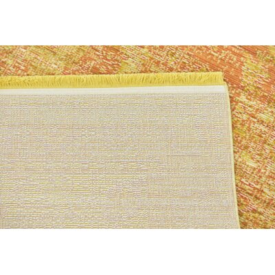 Rune Yellow Area Rug Rug Size: Rectangle 53 x 77