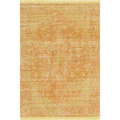 Rune Yellow Area Rug Rug Size: Rectangle 4 x 59
